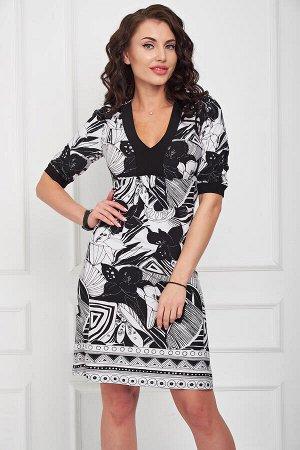 Платье Кристина (черно/белое) П696-6