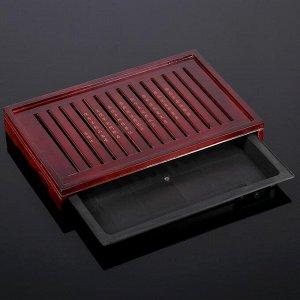 Стол для чайной церемонии с подносом «Иероглифы», 43?17,5?5 см