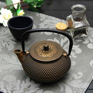 Чайник «Восточная ночь. Золото», 300 мл, с ситом, цвет чёрный