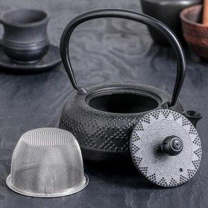 Чайник «Гафу», 500 мл, с ситом, цвет чёрный