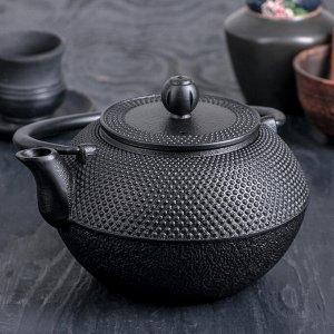 Чайник «Восточная ночь. Этно», 1,2 л, с ситом, с эмалированным покрытием, цвет чёрный