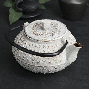 Чайник «Жангали», 900 мл, с ситом, цвет белый
