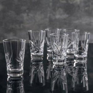 Набор стаканов для вина «Цветок», 35 мл, 6 шт