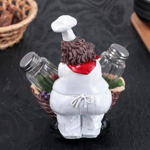 Набор для специй «Застенчивый повар», 2 шт: солонка и перечница, 12?14?17,5 см