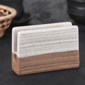 Салфетница «Брутальный камень», 12?4?8 см, цвет коричневый