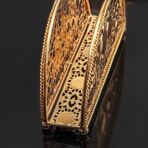 Салфетница декоративная «Птицы», цвет золотой
