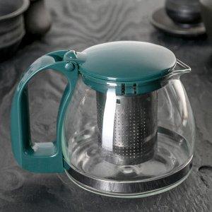 Чайник заварочный «Джони», 0,7 л, с металлическим ситом, цвет МИКС