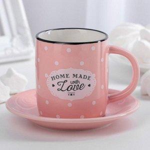 Кофейная пара «Уютный дом», 180 мл, цвет МИКС
