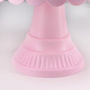 Подставка для торта и пирожных с крышкой, 32,5?32,5?34 см, цвет МИКС