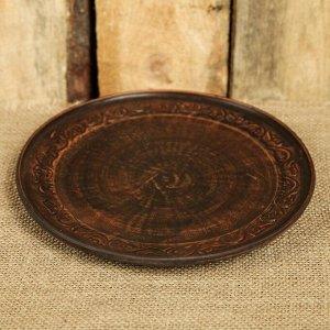 Тарелка d=20 см плоская, с декором