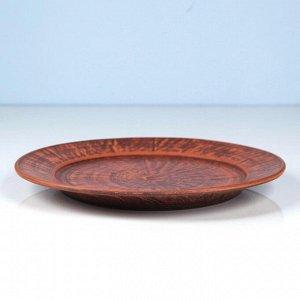 Тарелка большая, 26 см красная глина