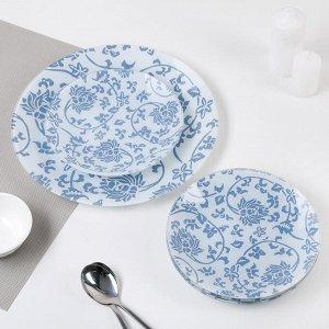 Сервиз столовый «Адель» на 6 персон: 6 тарелок d=20см, 1 тарелка d=30 см