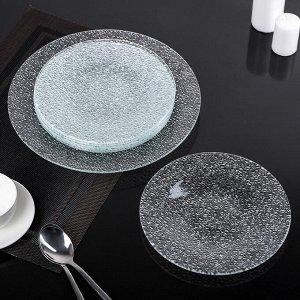 Сервиз столовый, 7 предметов: 1 тарелка d=29,5 см, 6 тарелок d=22 см, цвет прозрачный