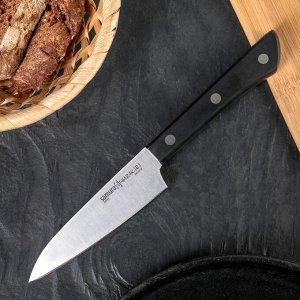 Нож Samura HARAKIRI овощной, лезвие 10 см, чёрная рукоять, сталь AUS-8