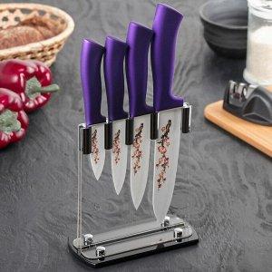 Набор керамических ножей «Сакура», 4 предмета: лезвие 7 см, 9,5 см, 12,5 см, 15 см 3803653