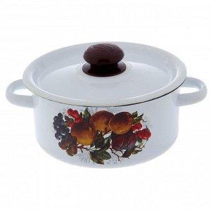Набор посуды «Йогурт», 3 предмета: кастрюли 2 л, 3,5 л, ковш 1,5 с крышкой, цвет белый
