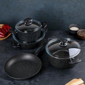 Набор посуды Wilma, 4 предмета: сковорода 26 см,сотейник 3 л, кастрюли 2,4 л / 4,2 л