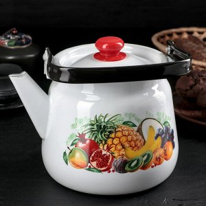 """Чайник 3,5 л сферический """"Эквадор"""", цвет белый"""