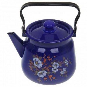 Чайник «Цветение», 3,5 л, эмалированная крышка