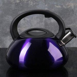 """Чайник со свистком 3 л """"Таун"""", цвет фиолетовый"""