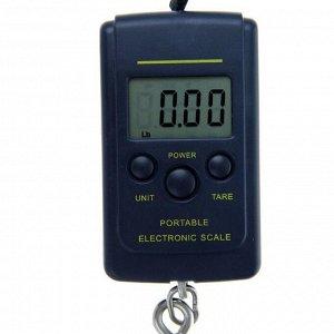 Безмен LuazON LV-403, электронный, до 40 кг, точность до 10 г, подсветка, тёмно-синий