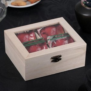 Ящик для хранения чайных пакетиков «Цейлон», 4 ячейки, 16?13,8?6,5 см 3972251