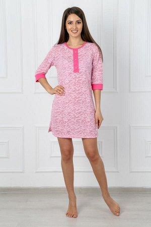Туника деворе розовая