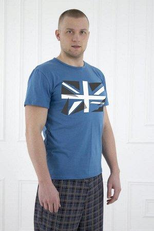 Футболка 448 флаг синяя