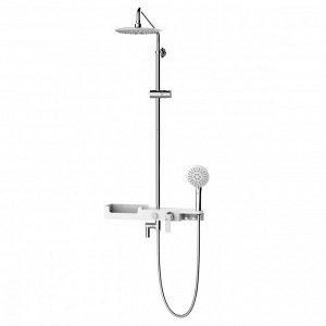 """LM7007C """"Тропик"""" Смеситель для ванны с верхней душ. лейкой «Тропический дождь», 3-ф. лейка, пов. изл"""