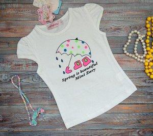 Футболка Качественная футболка для вашей принцессы! Принт с двух сторон! 100% хлопок. Короткий рукав , круглый ворот для подвижных детей. Принт яркий! Размеры изделия: указан рост ребенка 1-66см 2-70с