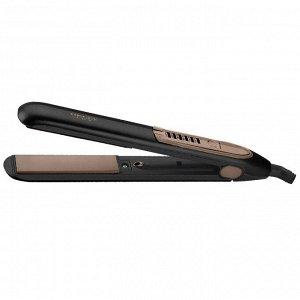 Щипцы для выпрямления волос  LUX DL-0539 черные с золотым