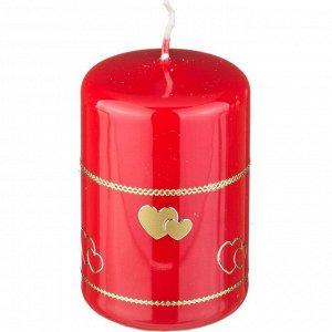 Свеча 'валентинка' высота=9 см.диаметр=6 см. (кор=4шт.)