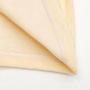 Халат махровый с капюшоном, рост 86-92 см, цвет бежевый 1431-52