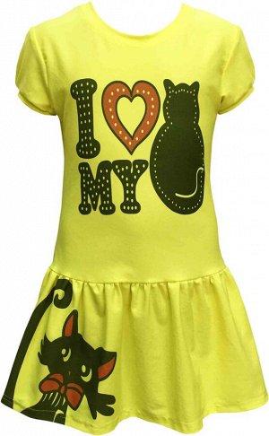 """Платье с принтом """"I Love my Cat"""""""