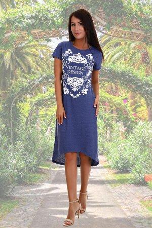 Платье Данный товар можно выбрать по расцветкам: синий;индиго;графит;в ассортименте. состав: 60% хлопок, 40% п/э, ткань: кулирка . Замечательная модель легкого, летнего платья. Отлично подойдет для от
