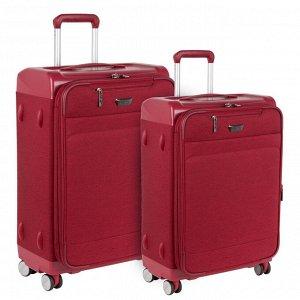 Чемодан Основное отделение чемодана закрывается на молнию. Впереди большой карман с отделением для ноутбука и маленький карман для документов. Чемодан имеет полностью пластиковый каркас и дополнительн