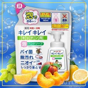 """LION Кухонное мыло-пенка для рук """"Ai - Kekute"""" с антибактериальным эффектом, аромат мяты, зап.блок 200 мл"""