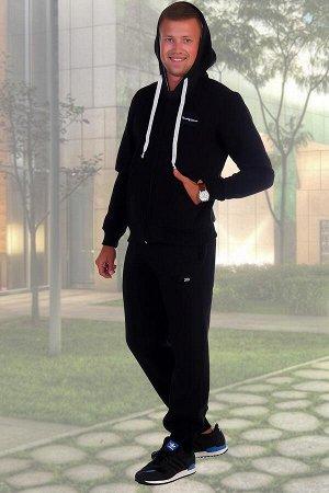 Костюм Бренд: Натали. Ткань: футер с начесом  Состав: 70% хлопок, 30% п/э  Теплый мужской костюм толстовка + брюки. Толстовка с капюшоном, застегивается на молнию, на животе карманы, рукава и низ отде