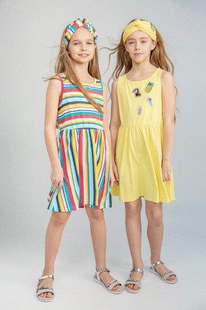 Платье трикотажное для девочек 2 шт. в комплекте 98