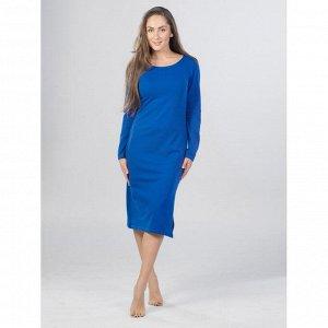 Платье из футера ФП1356 васильковое