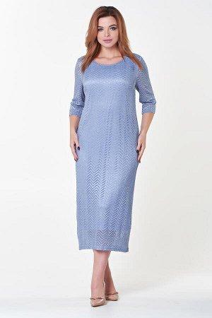 Платье Инна №7. Цвет:голубой