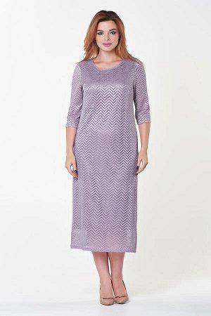 Платье Инна №8. Цвет:светло-сиреневый