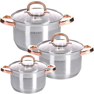 28811 Набор посуды 6пр 2+2,5+3,5 л MB (х4)