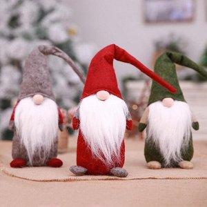 """Игрушка для праздничного декора """"Волшебный гном"""" - мягкий оберег"""
