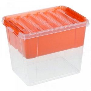 Контейнер для xранения с крышкой и вкладышем «Профи», 25 л, 41?29,5?31 см, цвет МИКС