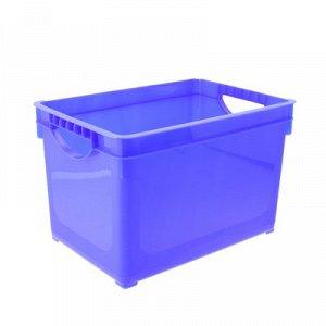 Ящик для xранения 19 л, 38,5?26,6?24,2 см, цвет МИКС