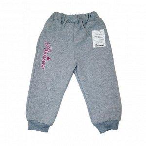 Спортивные штаны 381/28 (серые с рисунком)