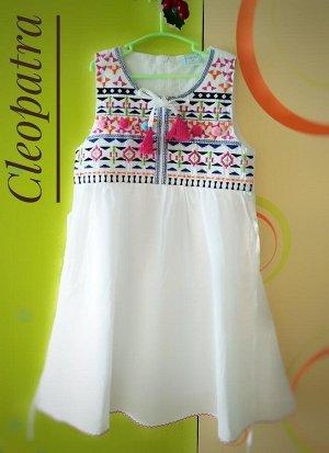 Платье белое для девочки хлопок