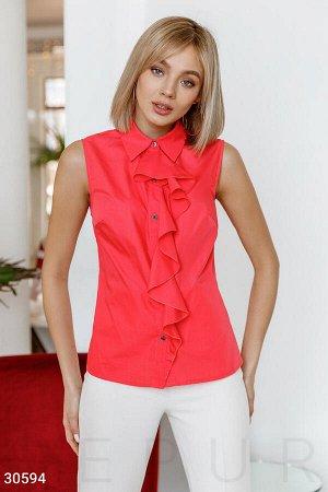 Блуза с мягким воланом