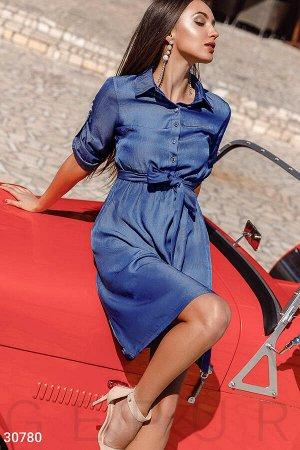Сдержанное платье-миди